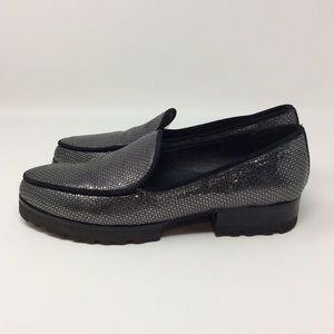 Donald J Pliner Metallic Elen Loafers